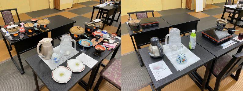 慶山の食事会場
